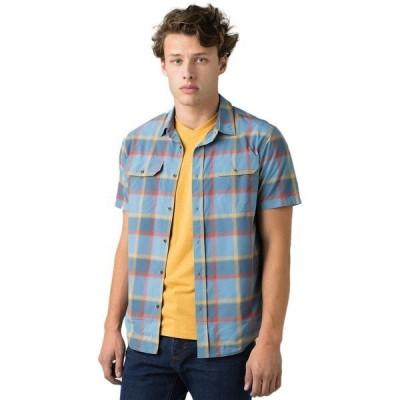 プラーナ シャツ メンズ トップス Cayman Plaid Short-Sleeve Shirt - Men's Nickel