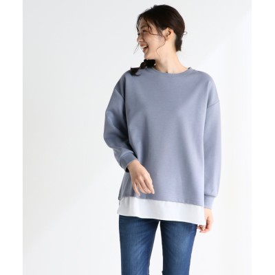 (Honeys/ハニーズ)裾レイヤードプルオーバー/レディース ブルー