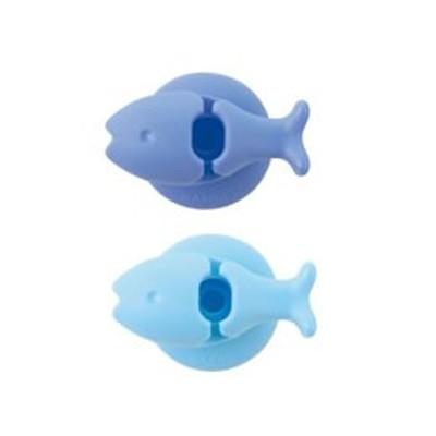 マーナ/おさかな歯ブラシホルダー ブルー/W584B