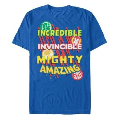 マーベル メンズ Tシャツ トップス Men's Comic Collection Powerful Word Stack Short Sleeve T-Shirt