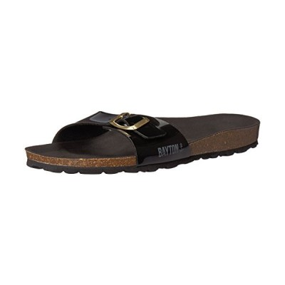 Bayton Womens Zephyr Open Toe Casual Wedged Sandals, Black, Size 9