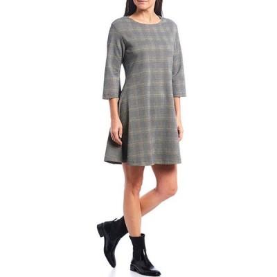 ブライン ウォーカー レディース ワンピース トップス Irys Carnaby Plaid 3/4 Sleeve Shift Tunic Dress