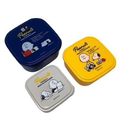 お弁当箱 シール容器 3個セット PEANUTS No.2 スヌーピー ( SNOOPY 弁当箱 レンジ対応 デザートケース フルーツケース 日本製 )