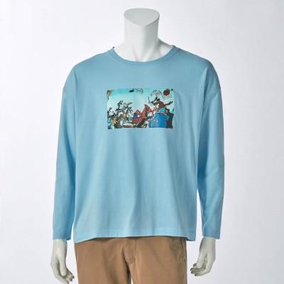 フォトプリントロングTシャツ[ユニセックス](選べるキャラクター)(ディズニー)