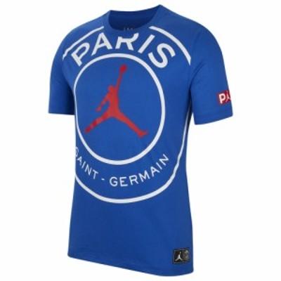 ジョーダン メンズ Tシャツ Jordan PSG Jumpman Logo T-Shirt 半袖 Soccer International Clubs | Paris Saint Germain | Game Royal/Wh