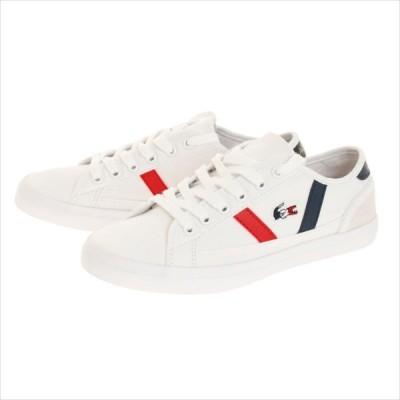ラコステ(LACOSTE) CFA046M-407 ラコステ LACOSTE CFA046M SIDELINE TRI 2 ホワイトネイビーレッド スニーカー レディース 靴