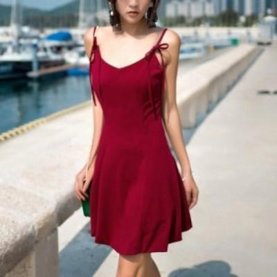 【取り寄せ】セクシー&キュートで決めたい!キャミソールワンピース レッド ドレス S/M/L/XL