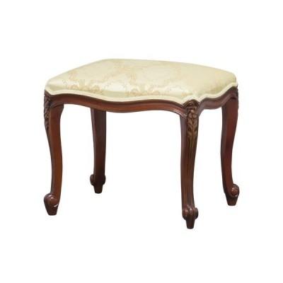 アンティーク調猫足スツール/腰掛椅子 【ブラウン】 木製 『フランシスカ』 高さ45cm 【完成品】 送料無料
