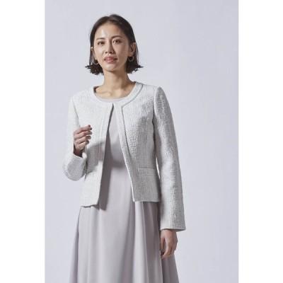 LAUTREAMONT / 【WEB別注】ジャガード風ノーカラジャケット