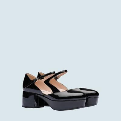 ミュウミュウ MIU MIU パンプス シューズ 靴 ブラック パテントレザー アンクルストラップ