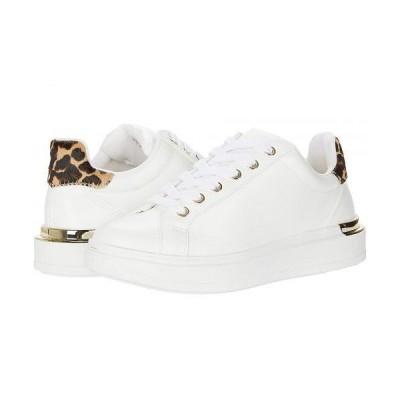 Steve Madden スティーブマデン レディース 女性用 シューズ 靴 スニーカー 運動靴 Jaxie Sneaker - White/Leopard