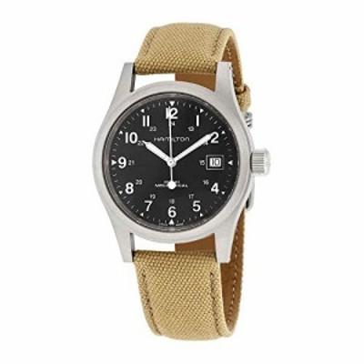 腕時計 ハミルトン メンズ Hamilton Khaki Field Hand Wind Black Dial Men's Watch H69439933