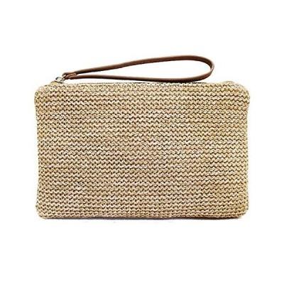 Earnda Women Staw Woven Cluthes Purses, Handbags Envelope Bag Wristlet Wallets【並行輸入品】
