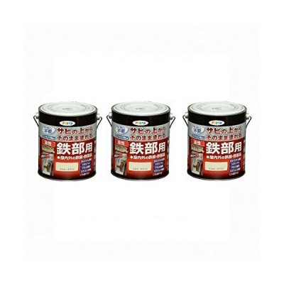 Asahipen(アサヒペン) 油性高耐久鉄部用 ミルキーホワイト 1.6L まとめ買い3缶セット