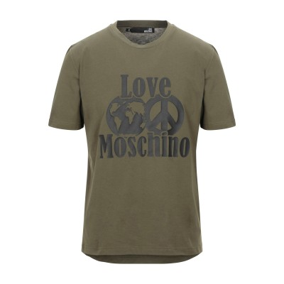 ラブ モスキーノ LOVE MOSCHINO T シャツ ミリタリーグリーン XS コットン 100% / ポリウレタン T シャツ