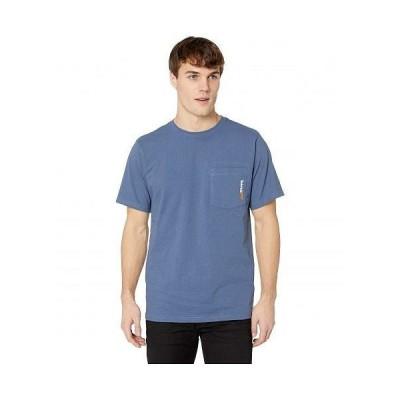 Timberland PRO ティンバーランド メンズ 男性用 ファッション アクティブシャツ Base Plate Blended Short Sleeve T-Shirt - Vintage Indigo