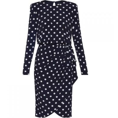 ジーナ バッコーニ Gina Bacconi レディース ワンピース ワンピース・ドレス Rae Bow Detail Dress Navy