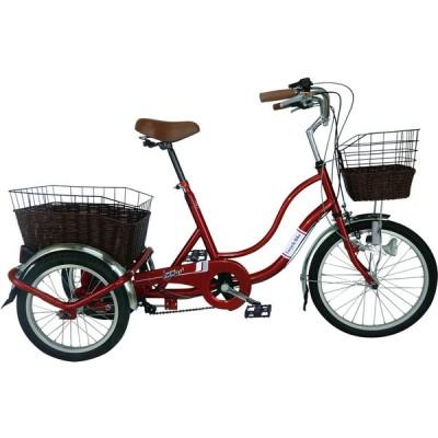 (一部エリア別途送料)SWING CHARLIE ノーパンク三輪自転車G / 20インチノーパンク三輪自転車 カラー:ワインレッド mg-trw20ng
