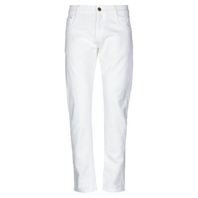 DOMENICO TAGLIENTE パンツ ホワイト 48 コットン 97% / ポリウレタン 3% パンツ