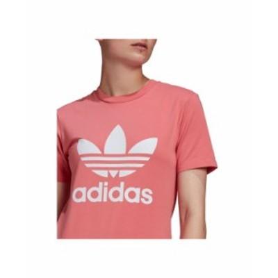 アディダス レディース シャツ トップス Women's Trefoil Logo T-Shirt Pink