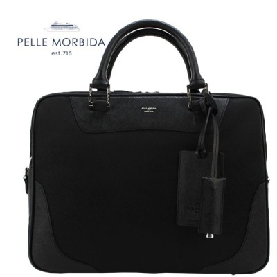 ペッレモルビダ PELLE MORBIDA リモンタナイロン 1ルーム ブリーフケース PMO-CA104 Black(ブラック×ブラック)