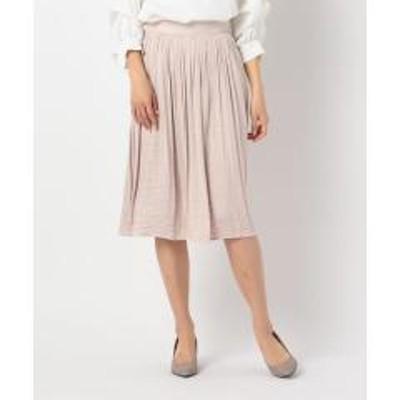 ノーリーズドレープサテンスカート【お取り寄せ商品】