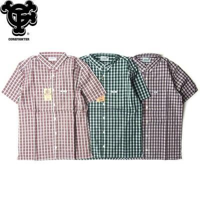 COREFIGHTER コアファイター TARTAN CHECK S/S BD SHIRTS タータンチェック ボタンダウン シャツ 半袖 デッドストック メンズ 3カラー