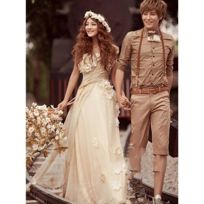 人気品!豪華なウェディングドレス☆ロングドレス☆フリルマキシワンピース☆結婚式 ウェディングドレス 二次会 パーティー 披露宴