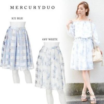 SALE50%OFF MERCURYDUO マーキュリーデュオ Flowerシアーボーダースカート 001610800101