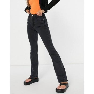 ニュールック レディース デニムパンツ ボトムス New Look flare jeans in black