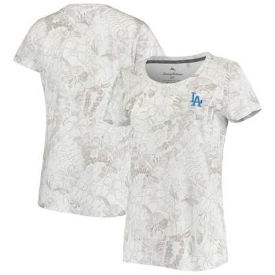 トッミーバハマ レディース Tシャツ トップス Los Angeles Dodgers Tommy Bahama Women's Peeky Fronds Seaport T-Shirt