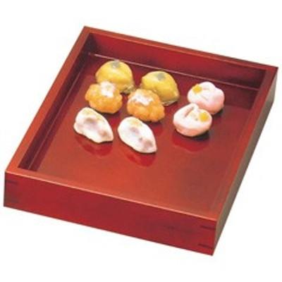 【お盆 トレー 和菓子】ヤマコー YAMAKO 溜塗 菓子用番重 小 260×335×H55(44122) キッチン用品