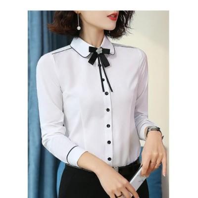 トップス Yシャツ 就活 大きいサイズ 学生 スキッパーシャツ おしゃれ OL 通勤 シャツ ブラウス レディース 安い フォーマル とろみシャツ上着オフィス お呼ばれ