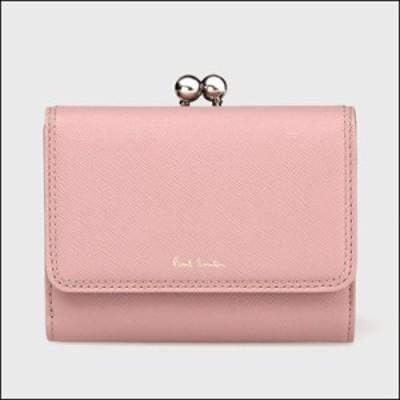 ポールスミス ポール・スミス クロスグレイン 口金折財布 ピンク
