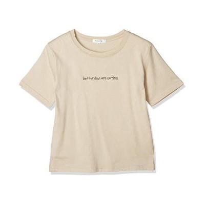 [ナチュラルビューティーベーシック] Tシャツ 刺繍ロゴT レディース ベージュ 日本 M (日本サイズM相当)