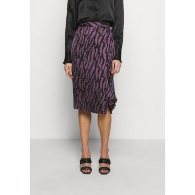 ブルンスバザー スカート レディース ボトムス TREE VIOLIS SKIRT - A-line skirt - artwork purple