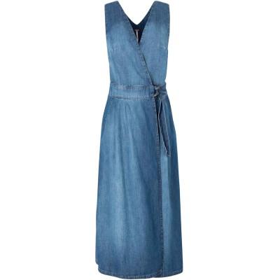 FREE PEOPLE ジャンパースカート ブルー 2 コットン 100% ジャンパースカート