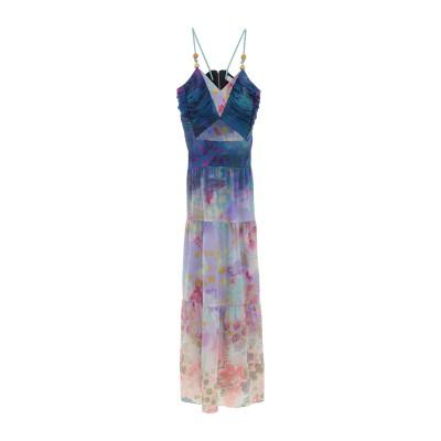 ピーター・ピロット PETER PILOTTO ロングワンピース&ドレス ブルー 8 シルク 96% / ポリウレタン 4% ロングワンピース&ドレス