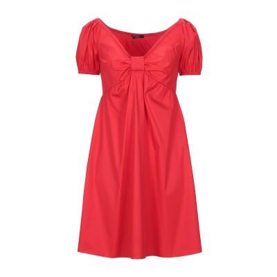 カルラ ジー CARLA G. ミニワンピース&ドレス レッド 42 コットン 72% / ナイロン 25% / ポリウレタン 3% ミニワンピース