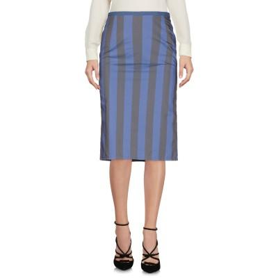 DOUUOD ひざ丈スカート ダークブルー 40 ポリエステル 57% / コットン 43% ひざ丈スカート
