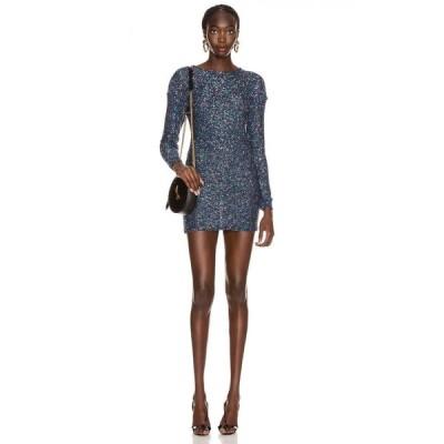 イヴ サンローラン Saint Laurent レディース ワンピース ミニ丈 ワンピース・ドレス sequin mini dress Blue/Multicolor