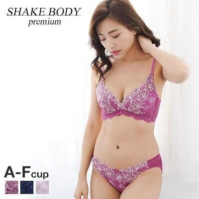 60%OFF (シェイクボディー)Shake Body クロスラメライン ブラジャー ショーツ セット ABCDEF 大きいサイズ(42326037W)