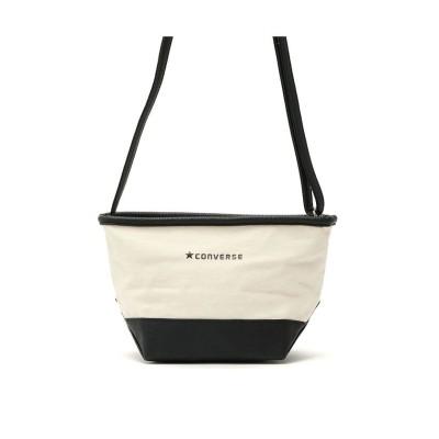(CONVERSE/コンバース)コンバース バッグ CONVERSE ショルダーバッグ Canvas×Fake Leather Shoulder Bag ミニショルダー キャンバス 14535/ユニセックス ホワイト