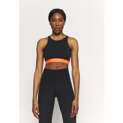 リーボック レディース スポーツ用品 BEYOND THE SWEAT CROP - Medium support sports bra - black