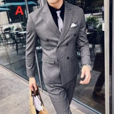 ビジネススーツ メンズ 3ピーススーツ フォーマルスーツ 披露宴 セットアップスーツ 発表会 3点セット カジュアル メンズスーツ 成人式