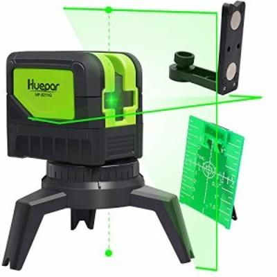 【送料無料】Huepar 2ライン グリーン レーザー墨出し器 2ポイント 緑色 クロスラインレーザー 自動水平調整機能 高輝度 ライン出射角110