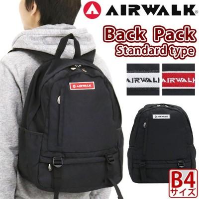 AIRWALK リュック エアウォーク リュックサック バックパック デイパック スタンダードタイプ バッグ 黒 ブラック
