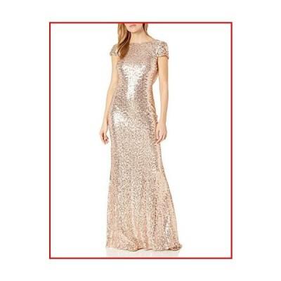 【新品】Badgley Mischka Women's Cowl Back Sequin Classic Gown, 8 - Blush【並行輸入品】