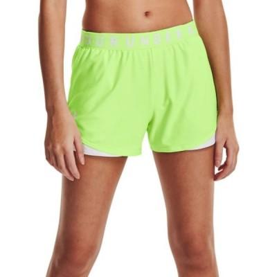 アンダーアーマー Under Armour レディース ラクロス ショートパンツ ボトムス・パンツ Play Up 3.0 Shorts Summer Lime/White