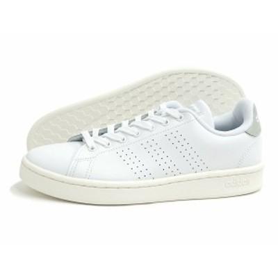 adidas(アディダス)ADVANCOURT LEA U(アドバンコート レザー)(EE7683/ホワイト/シルバー)スニーカー 靴 ローカット 白 メンズ レディース